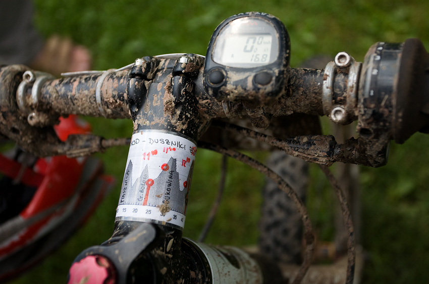 Bikechallenge 2009 - profil každé etapy připomínal zubatou pilu a prům. rychlost na computeru nepotřebuje komentář...