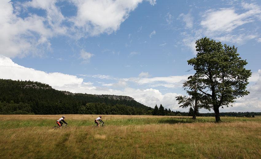 Bikechallenge 2009 - přímo pohádkové scenérie byly na denním pořádku
