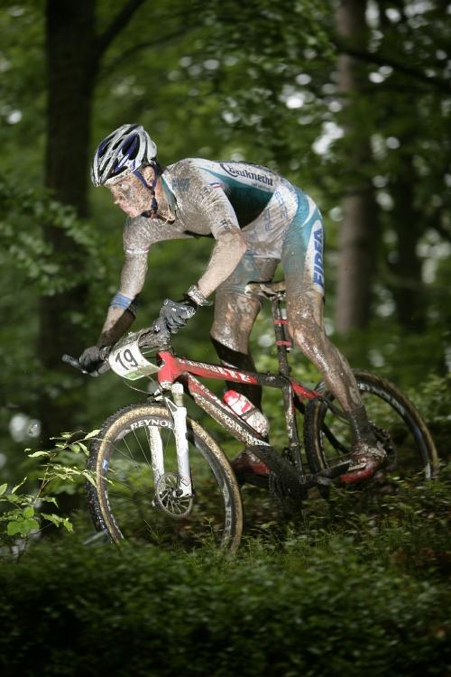 Mistrovství ČR MTB XC 2009 - Karlovy Vary: Zdeněk Štybar vydržel na špici až do předposledního kola