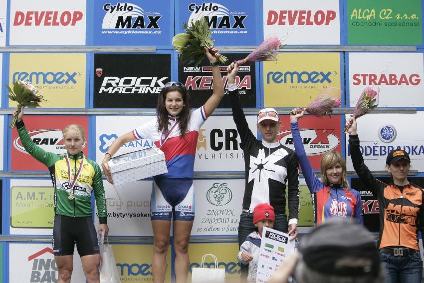 Mistrovství ČR MTB XC 2009 - Karlovy Vary: ženy - 1. Huříková, 2. Havlíková, 3. Šulcová, 4. Němcová, 5. Chmurová