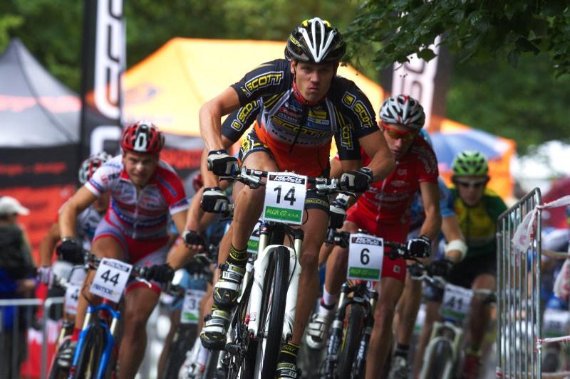 Mistrovství ČR MTB XC 2009 - Karlovy Vary - start U23