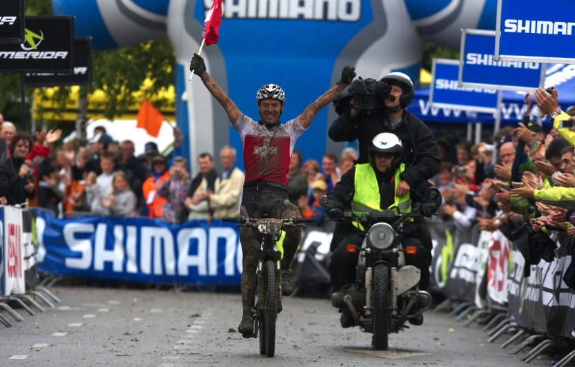 Mistrovstv� Evropy MTB XC 2009 - Zoetermeer /NED/ - elite: Ralph N�f v�t�z�