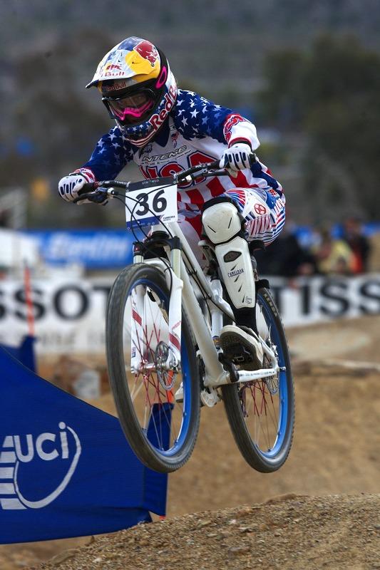 Mistrovství světa MTB 4X 2009 - Canberra /AUS/ - kvalifikace - Jill Kintner
