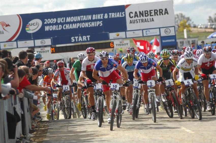 Mistrovství světa MTB XC 2009, Canberra - muži U23: start