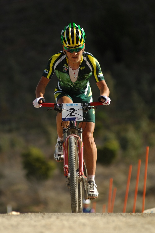 Mistrovství světa MTB XC 2009, Canberra - muži U23: Burry Stander ve výjezdu