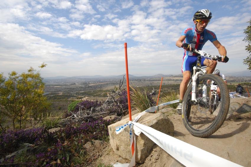 Mistrovství světa MTB XC 2009, Canberra - junioři: Tomáš Paprsktka se stále posunoval dopředu