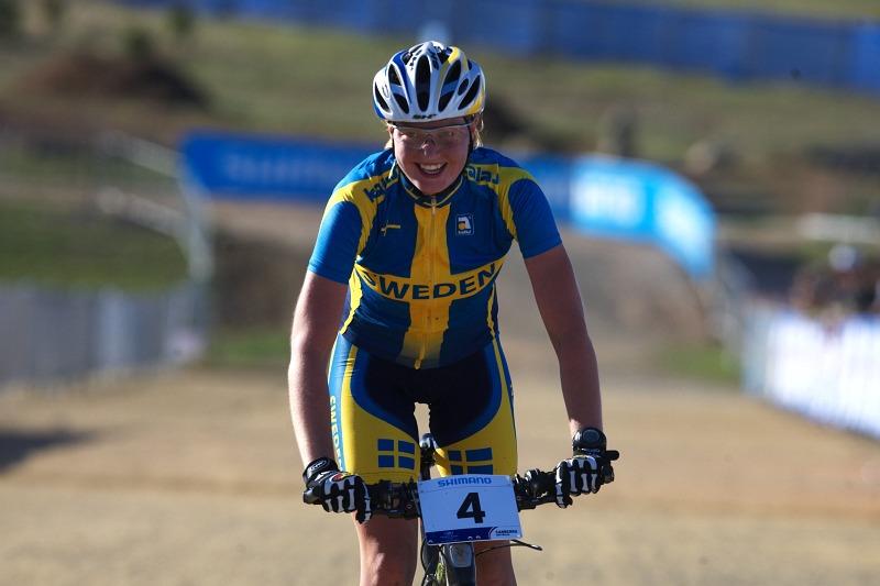 Mistrovství světa MTB XC 2009, Canberra /AUS/ - radost ze stříbra Alexandry Engen