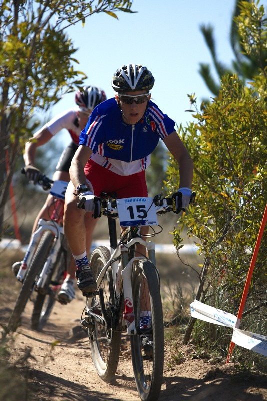 Mistrovství světa MTB XC 2009, Canberra /AUS/ - honička Prevot a Hediger