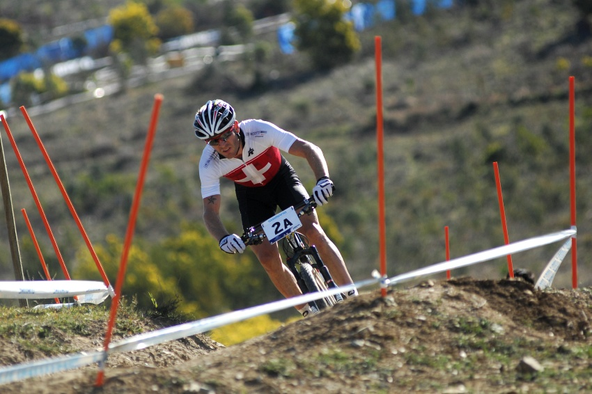 Mistrovství světa MTB XC 2009, Canberra /AUS/ - Florian Vogel na prvním místě