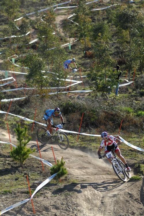 Mistrovství světa MTB XC 2009, Canberra /AUS/ - Geoff Kabush, Sven Nijs a Jan Nesvadba