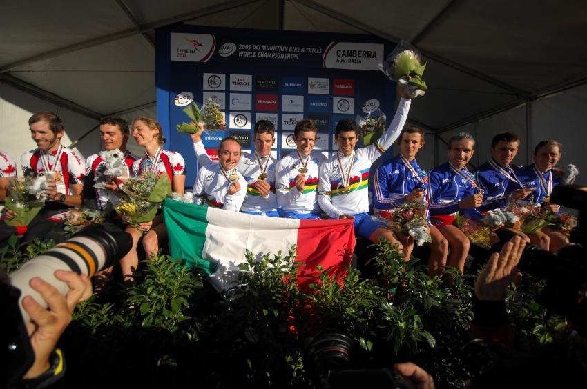 Mistrovství světa MTB XC 2009, Canberra /AUS/ - 1. Itálie, 2. Kanada, 3. Francie