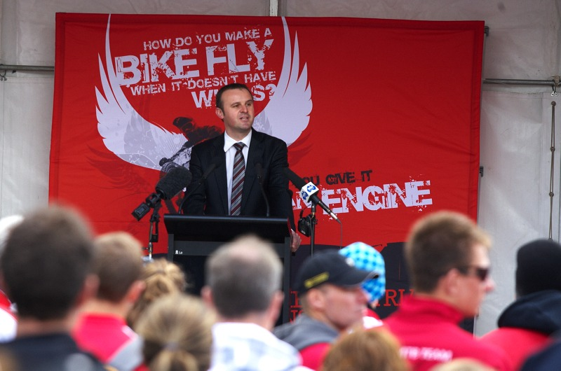 Mistrovství světa MTB 2009, Canberra 1. den - australský ministr sportu