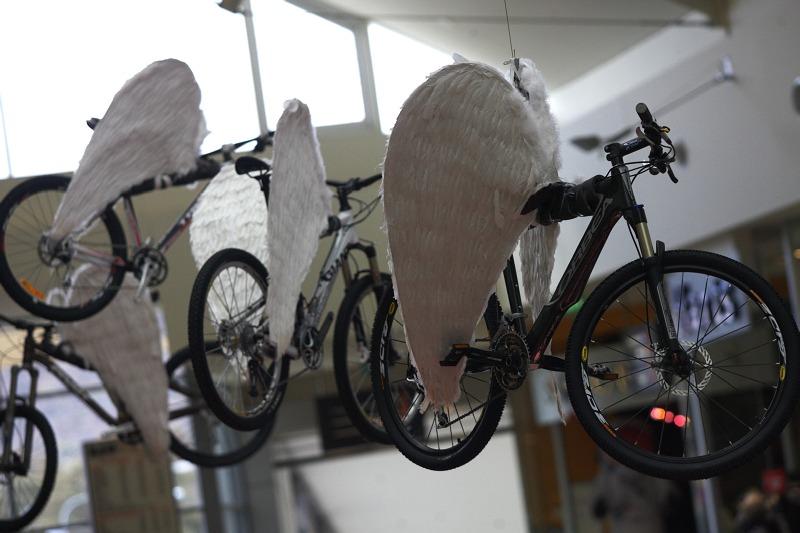 Mistrovství světa MTB 2009, Canberra 1. den - výzdova v místním obchoďáku
