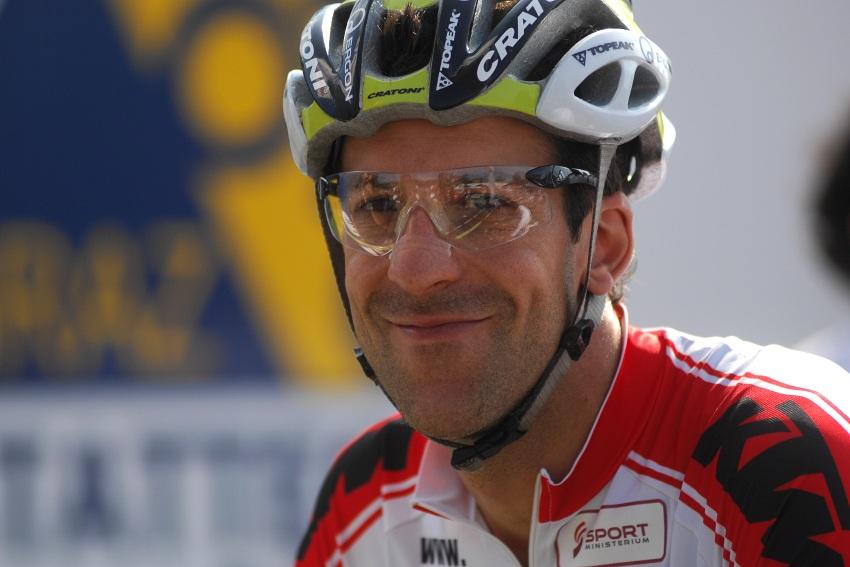 Mistrovství světa v MTB maratonu 2009 - Graz /AUT/: Alban Lakata v dobré náladě