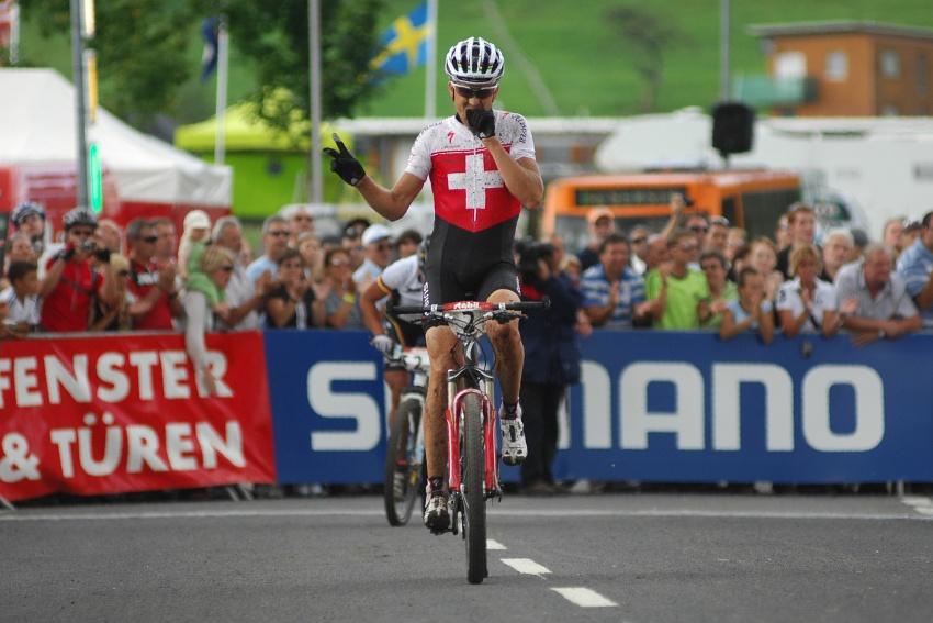 Mistrovstv� sv�ta v MTB maratonu 2009 - Graz /AUT/: Christoph Sauser t�et�