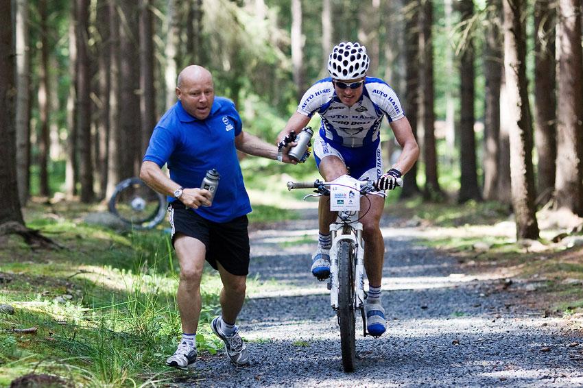 KP� AM bikemaraton �S Karlovy Vary 2009 - Jirka �en�ek v akci...