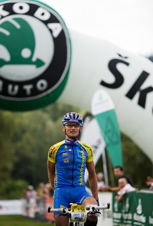 KPŽ AM bikemaraton ČS Karlovy Vary 2009 - Jan Hruška vítězí na 100 km