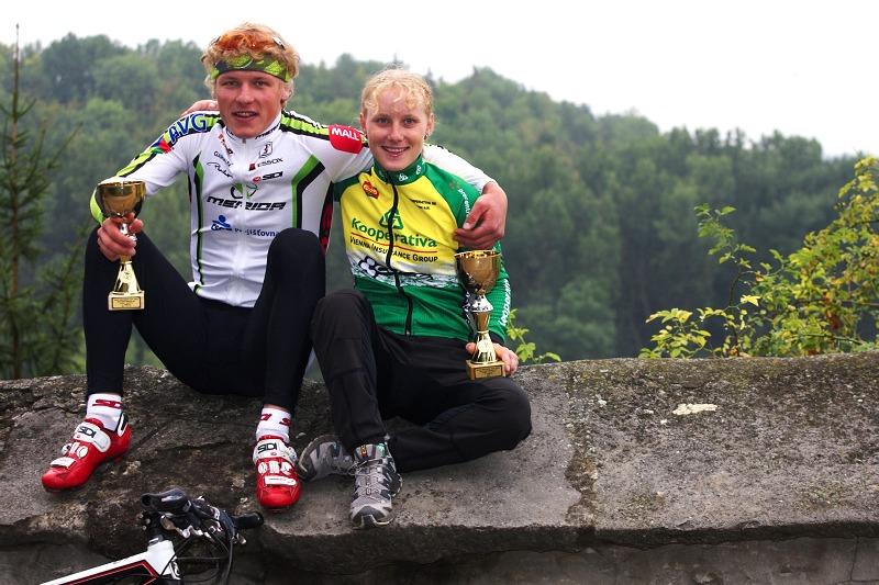 Český pohár XCO #5 - Kutná Hora 22.8. 2009 - vítězové seriálu Pavla Havlíková a Jiří Friedl