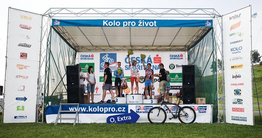 KP� Je�t�d Tour 2009 - 90km �eny: 1. �ern� 2. �ev��kov� 3. P�ni�kov�