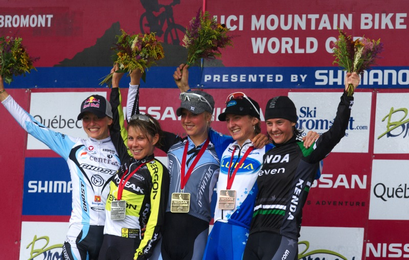 Nissan UCI MTB World Cup XCO #6 - Bromont /KAN/ 2.8. 2009 - 1. Byberg, 2. Kalentieva, 3. Pendrel, 4. Osl, 5. McConneloug