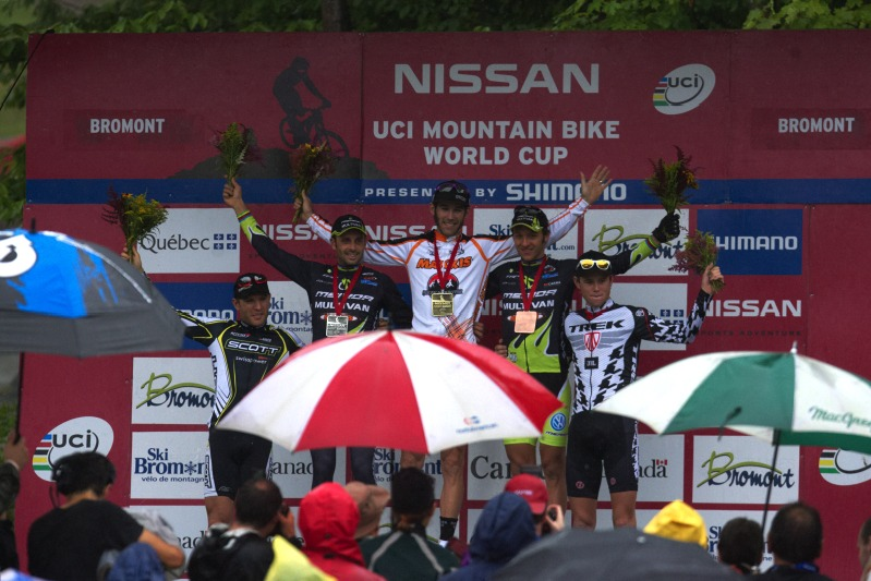 Nissan UCI MTB World Cup XCO #6 - Bromont /KAN/ 2.8. 2009 - 1. Kabush, 2. Hermida, 3. Näf, 4. Vogel, 5. Flückiger