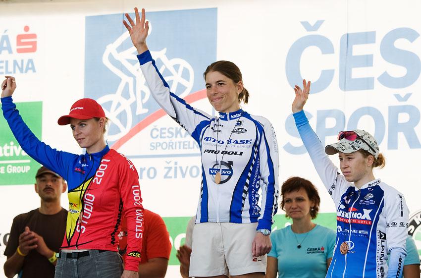 KPŽ Cyklobraní Jevišovka 2009 - 1. Petra Kottová 2. Bára Radová 3. Jana Kábrtová