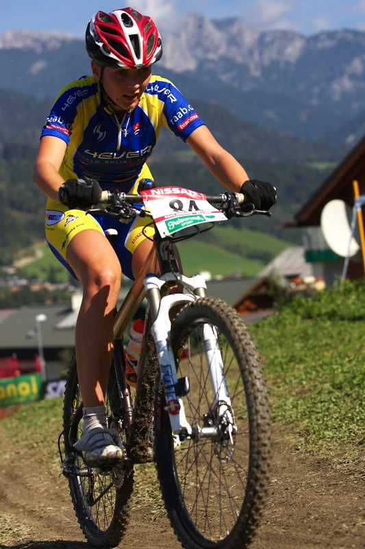 Nissan UCI MTB World Cup XCO #8, Schladming 19.9. 2009 - Lenka Bulisov�
