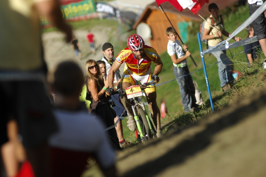Nissan UCI světový pohár MTB #8 - Schladming 2009: José Antonio Hermida v posledním kole