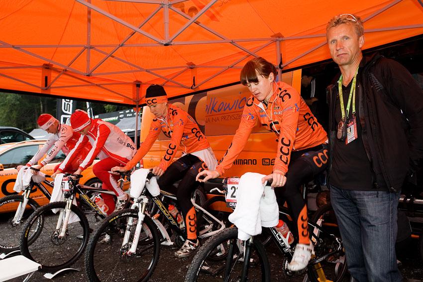 SP XCO Champéry 2009 ženy - CCC Polkowice a JBG 2  - chlouba polské ženské cyklistiky