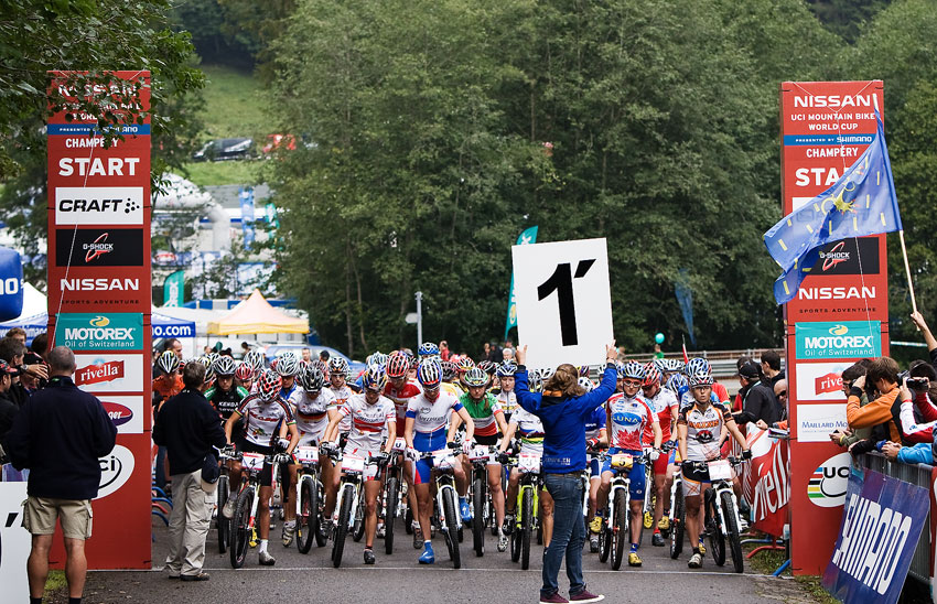 SP XCO Champéry 2009 ženy - minuta do startu...