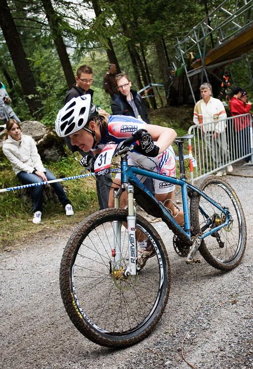 SP XCO Champéry 2009 ženy - Janka Štefková si závěr protrpěla