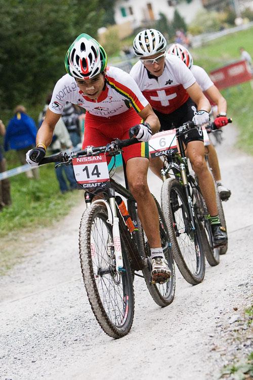 SP XCO Champéry 2009 junioři - Ricardo Marinheiro a Matthias Stirnemann