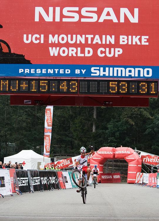 SP XCO Champéry 2009 junioři - Ricardo Marinheiro vítězí