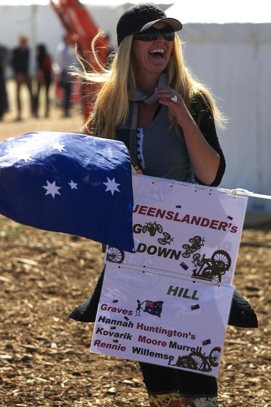 Mistrovství světa MTB DH 2009, Canberra /AUS/ - Australané brali fandění vážně a s humorem
