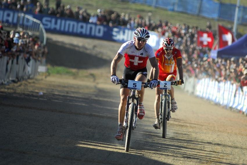 MS MTB XC Canberra 2009: Florian Vogel vyhr�v� spurt o bronz