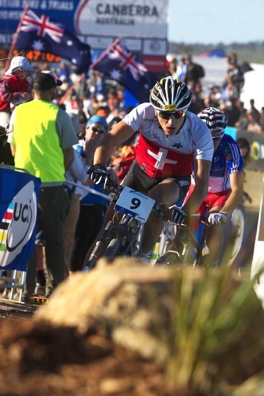 Mistrovství světa MTB XCO 2009 - Canberra /AUS/ - Nino Schurter a Julien Absalon
