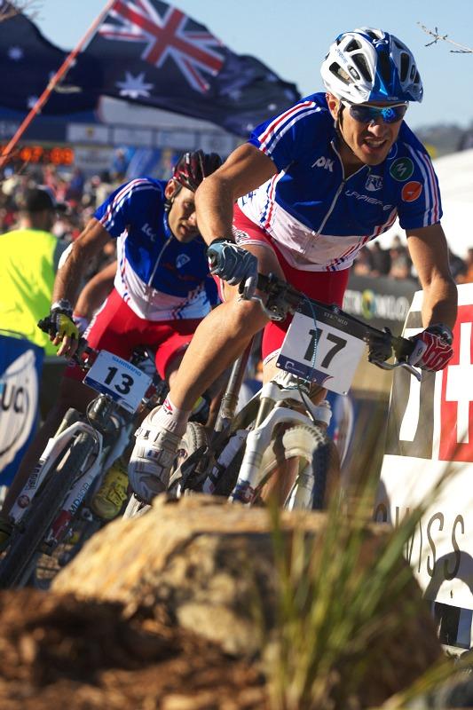 Mistrovství světa MTB XCO 2009 - Canberra /AUS/ - Cedric Ravanel a Jean Christoph Peraud
