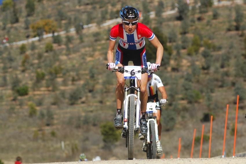 Mistrovství světa MTB XC 2009, Canberra: Lene Byberg ve vedení