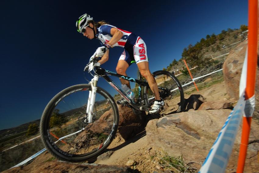 """Mistrovství světa MTB XC 2009, Canberra: Willow Koerber a jeji 29"""" Gary Fisher"""