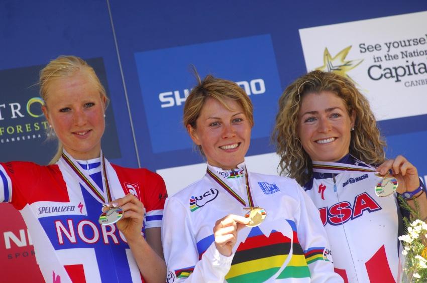 Mistrovství světa MTB XC 2009, Canberra: 1. Kalentieva, 2. Byberg, 3. Koerber