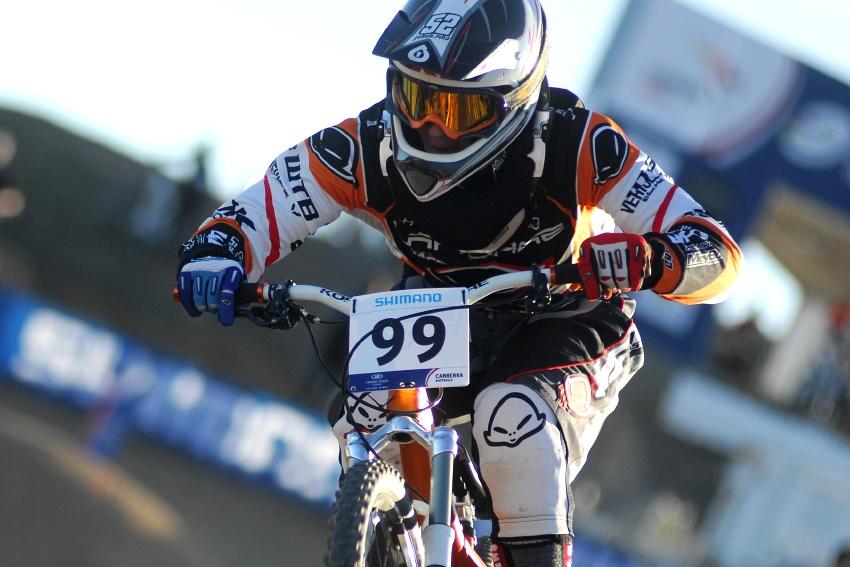 Mistrovství světa 4X 2009, Canberra (AUS): Jakub Říha při tréninku