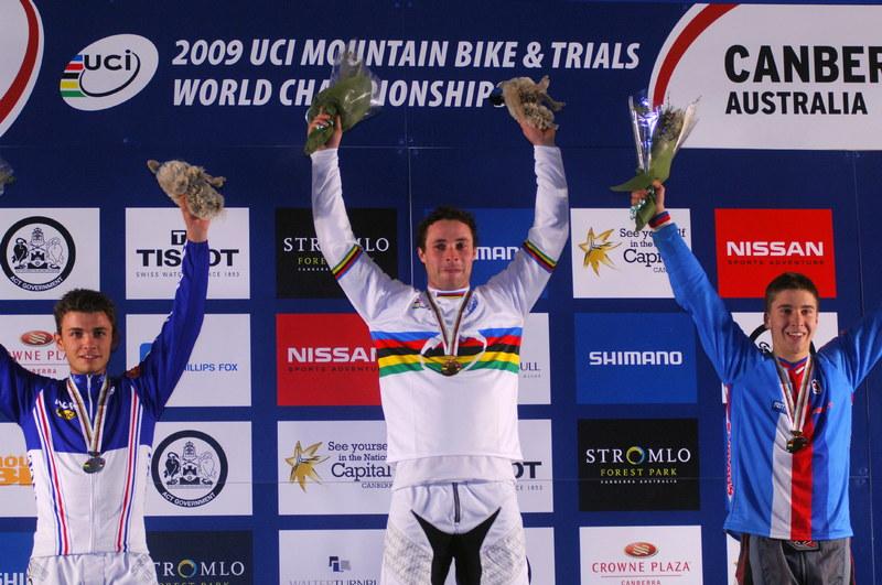 Mistrovství světa MTB 4X 2009 - Canberra /AUS/ - 1. Graves, 2. Saladini, 3. Říha