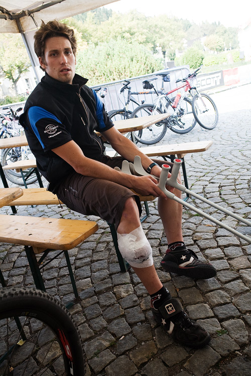 Scott Žacléřská 70 MTB 2009 - Lukáš Sáblík se díky zranění mohl na závod jenom dívat