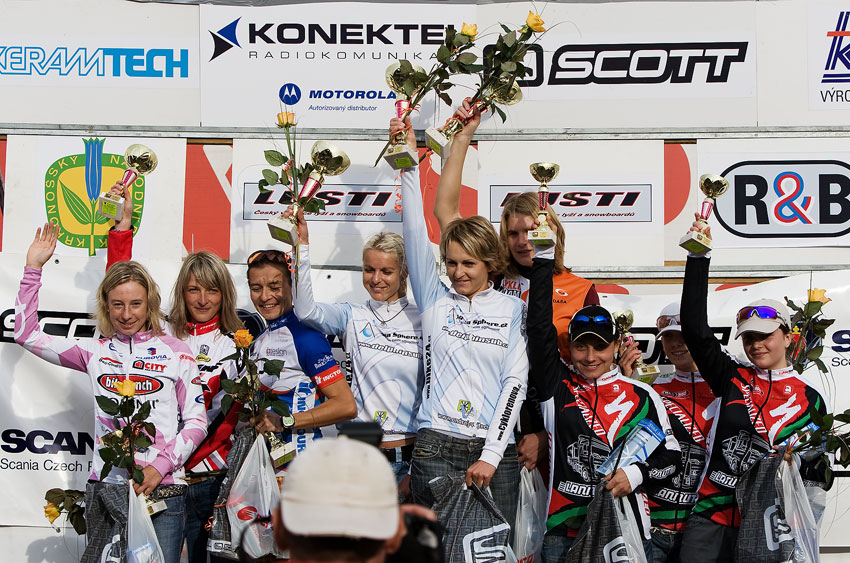 Scott Žacléřská 70 MTB 2009 - nejlepší ženy na 48. km