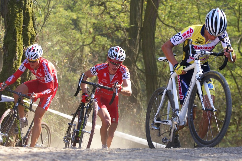 Cyklokros - Toi Toi Cup 2. závod, Stříbro 26.9. 2009 - Klouček, Bambula, Kášek
