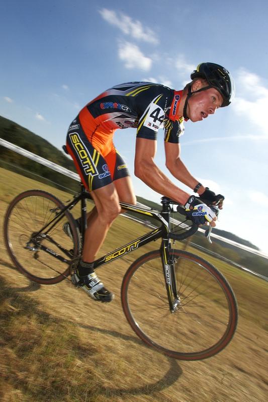Cyklokros - Toi Toi Cup 2. z�vod, St��bro 26.9. 2009 - Filip Eberl