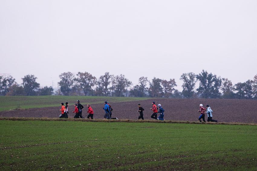 Alltraining podzimní kemp Český ráj 2009 - ranní rozcvičky probíhaly ještě před snídaní