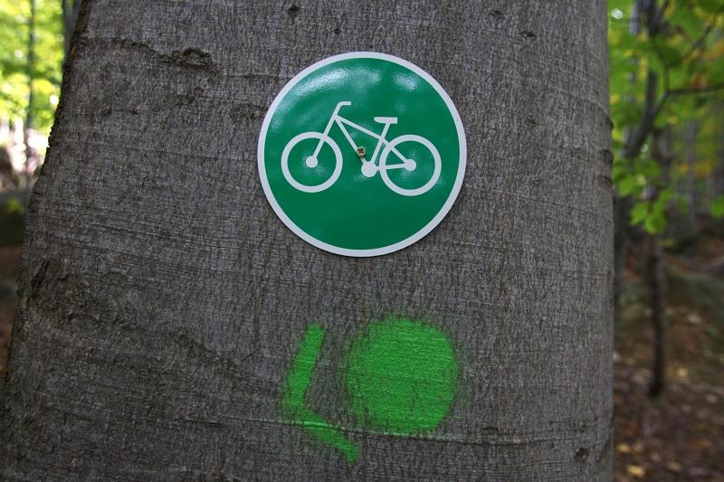 Rychlebské stezky, říjen 2009 - značení trailu