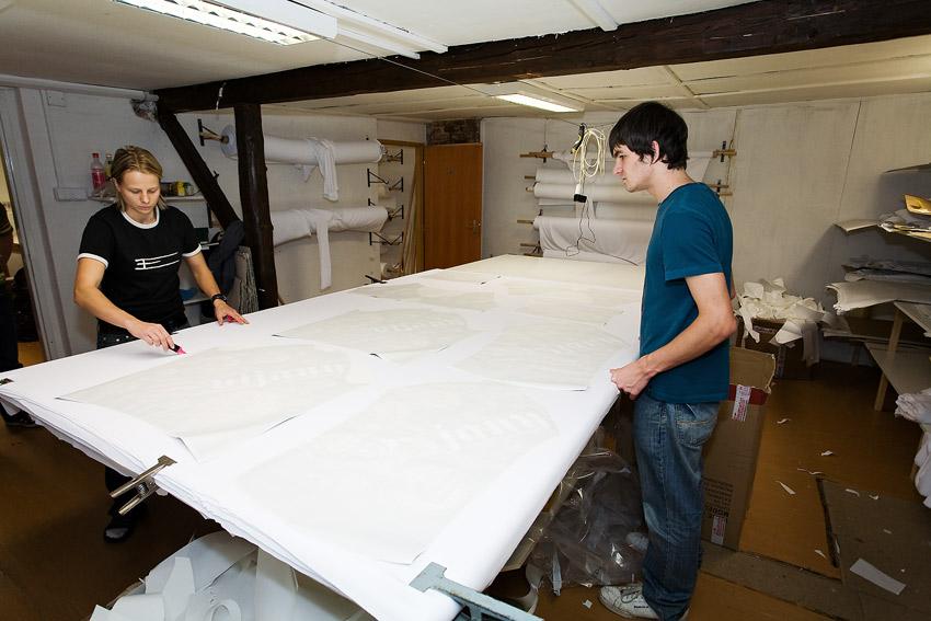 Eleven 2009 - zakázková výroba dresů: střihárna
