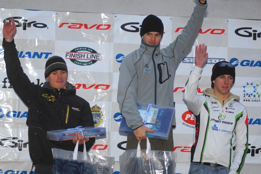 Winter Trans Brdy 2009 - 1. Jan Škarnitzl, 2. Tomáš Pešek, 3. Ondřej Cink